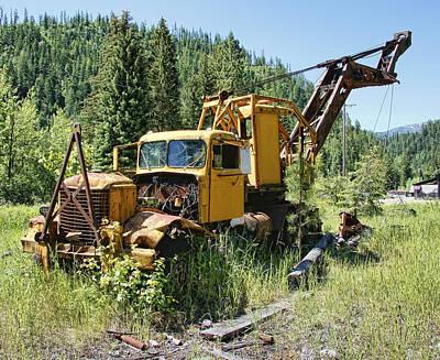 Logging Truck 2 - Burke Idaho Ghost Town Poster by Daniel Hagerman