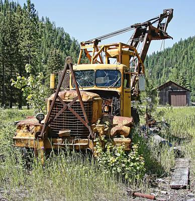 Logging Truck - Burke Idaho Ghost Town Poster by Daniel Hagerman