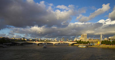 London  Skyline Waterloo  Bridge  Poster by David French