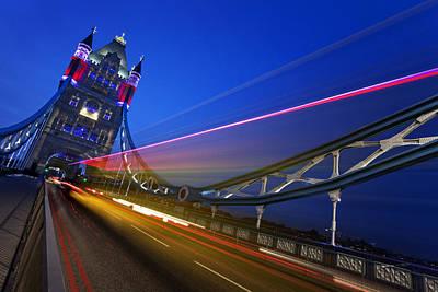 London Tower Bridge Poster by Nina Papiorek