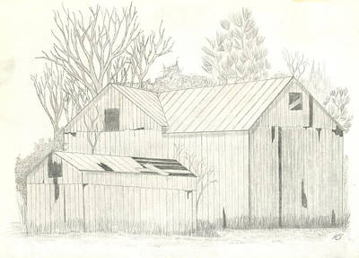 Lone Barn Poster by Keith Sachs