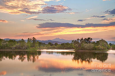 Longs Peak Evening Sunset View Poster by James BO  Insogna