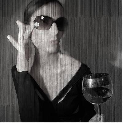 Loren With Wine Poster by Naxart Studio