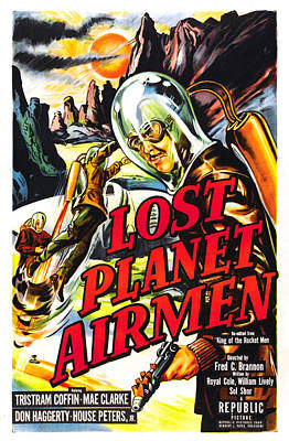 Lost Planet Airmen, Poster Art, 1951 Poster by Everett