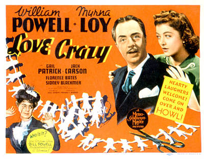 Love Crazy, William Powell, Myrna Loy Poster by Everett