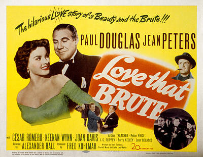 Love That Brute, Jean Peters, Paul Poster by Everett