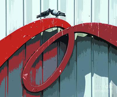 Lovebirds Poster by Joe Jake Pratt