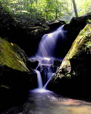 Lower Grotto Falls Poster by Frozen in Time Fine Art Photography