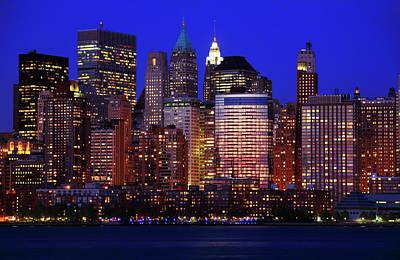 Lower Manhattan Poster by Rick Berk