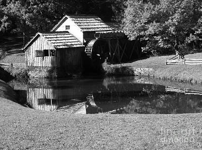 Mabry Mill In Black And White Poster by Thomas R Fletcher