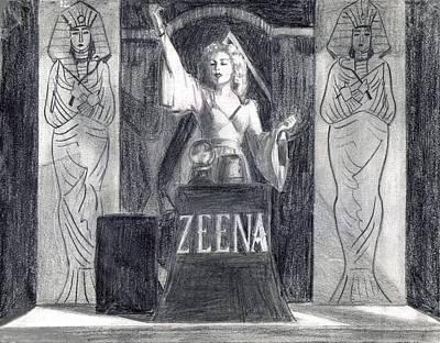 Madame Zeena Poster by Mel Thompson