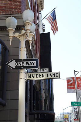 Maiden Lane San Francisco Poster by Wingsdomain Art and Photography