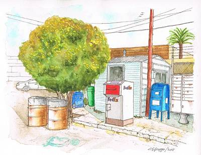 Mail Boxes At Bergamot Station - West Los Angeles - California Poster by Carlos G Groppa