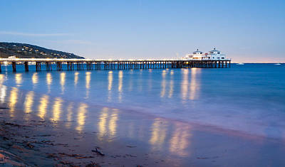 Malibu Pier Reflections Poster by Adam Pender