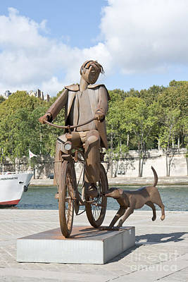 Man With Bicycle Poster by Fabrizio Ruggeri