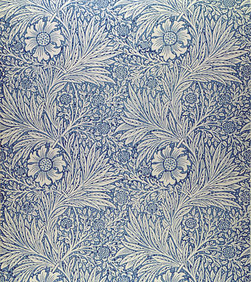 Marigold Wallpaper Design Poster by William Morris