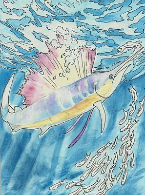 Marlin Poster by Jenn Cunningham