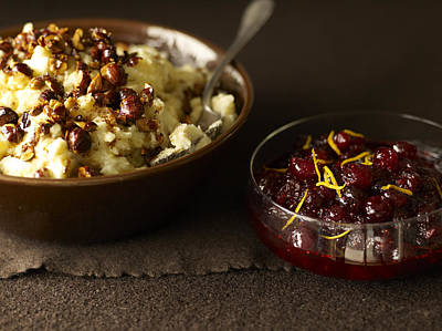 Mashed Potatoes With Cranberry Side Poster by James Baigrie