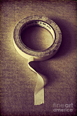 Masking Tape Poster by HD Connelly