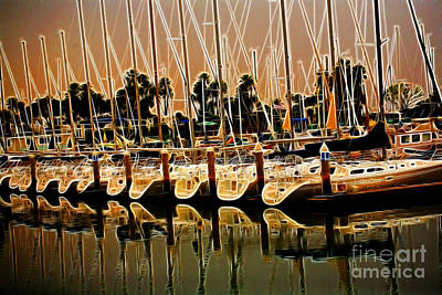 Masts Poster by Cheryl Young