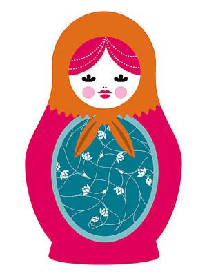 Matryoshka Doll Poster by Marco Recuero