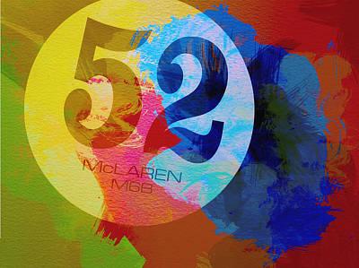 Mclaren Watercolor Poster by Naxart Studio