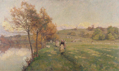 Meadows By The Avon Poster by Alfred Parsons
