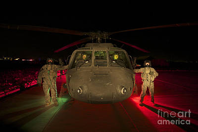Medevac Crewmembers Stand Poster by Terry Moore