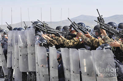 Members Of The Mongolian Internal Poster by Stocktrek Images