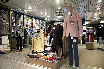 Menswear On Display At A Clothes Shop Poster by Jaak Nilson