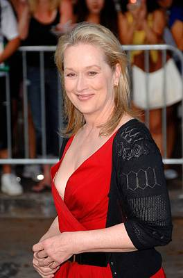 Meryl Streep At Arrivals For Julie & Poster by Everett