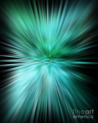 Mesmerizing Aqua Abstract Poster by Carol Groenen