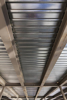 Metal Decking Over Structural Steel Poster by Don Mason