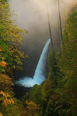 Metlako Falls In Autumn Poster by Alvin Kroon