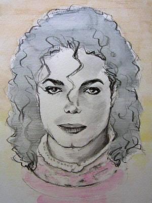 Michael Jackson - Planet Michael Poster by Hitomi Osanai