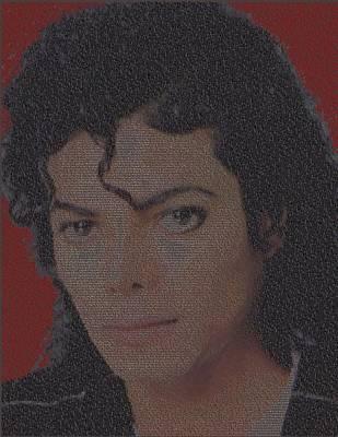 Michael Jackson Songs Mosaic Poster by Paul Van Scott