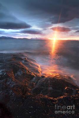 Midnight Sun Over Vågsfjorden Poster by Arild Heitmann