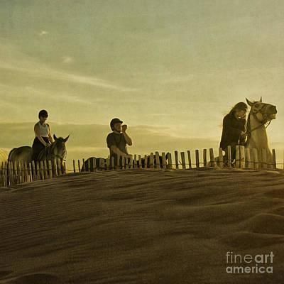 Midsummer Evening Horse Ride Poster by Paul Grand