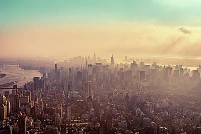 Midtown Manhattan At Dusk Poster by Matthias Haker Photography
