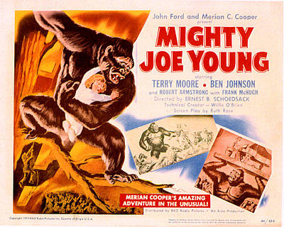 Mighty Joe Young, Terry Moore, 1949 Poster by Everett