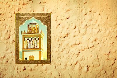 Minaret Through A Window Poster by Tom Gowanlock