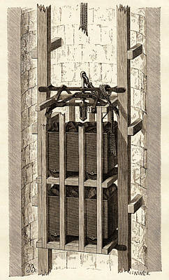 Mining Safety Cage, 19th Century Poster by Sheila Terry