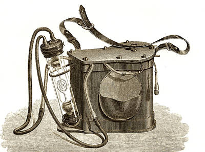 Mining Safety Lamp, 19th Century Poster by Sheila Terry