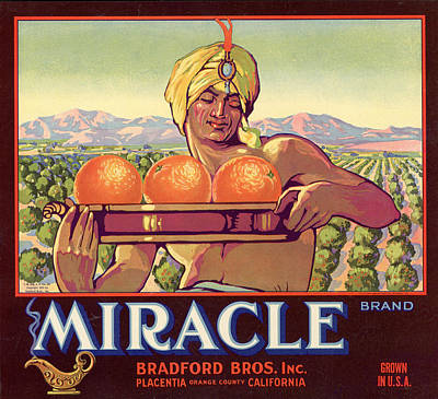 Miracle Brand Orange Label Poster by Hulton Archive