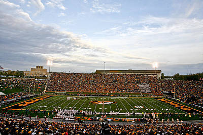 Missouri Memorial Stadium On Game Day Poster by Replay Photos