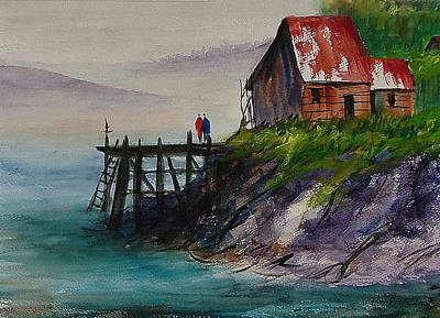 Misty Cove Poster by Heidi Patricio-Nadon