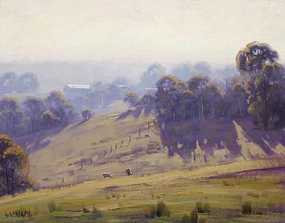 Misty Morning Cottles Bridge Poster by Graham Gercken