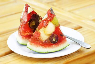 Mixed Fruit Watermelon Poster by Anek Suwannaphoom