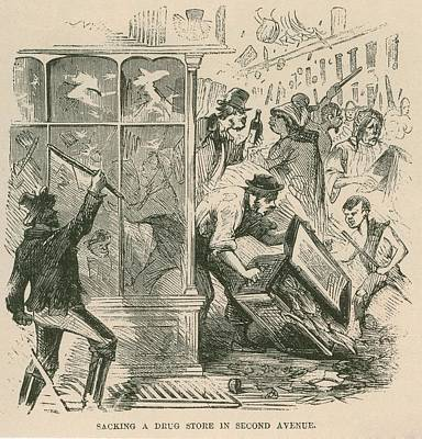 Mob Looting Of A Drug Store On Second Poster by Everett