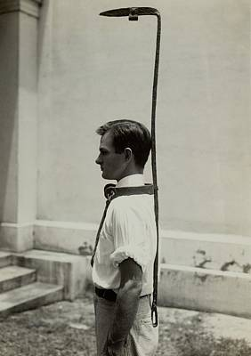 Model Wears A Slave Bell Rack, A Used Poster by Everett